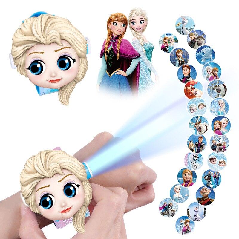 11 styles Frozen Anna Children's Watch For Boys Girls Cartoon Pattern Digital 3D Projection watch LE