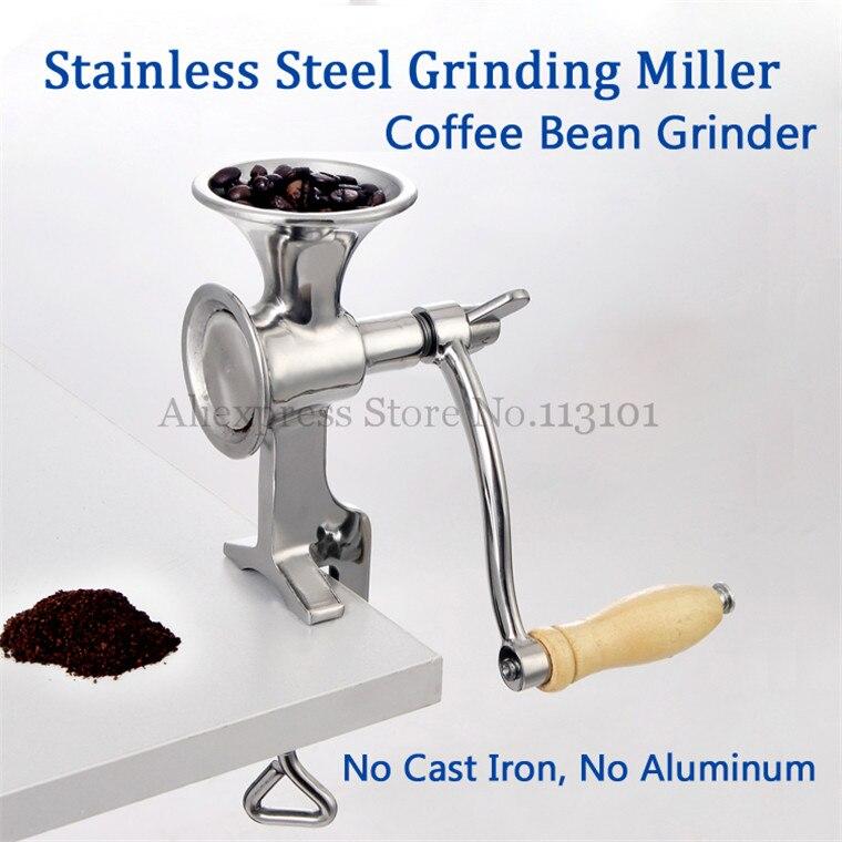 Шлифовальный станок из нержавеющей стали ручная мельница для кукурузы кофейная мука из фасоли мельница с рукояткой
