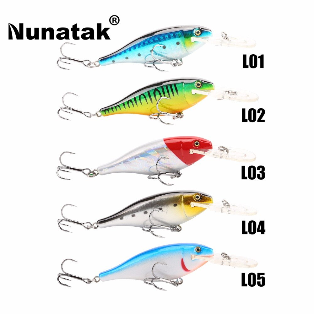 Nunatak  Minnow SK011 Hard Fishing Lures 5 Pcs 7 cm 8.5g 0-1.8 M Crankbait Floating Lure Wobblers Minnow Bait The Sea  Fishing