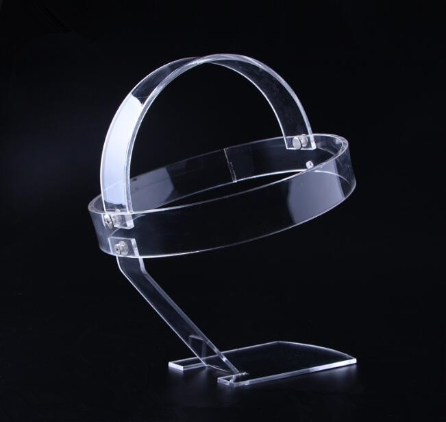 Soporte de 5 uds para sombreros, soporte de exhibición para faros delanteros Led, faro acrílico, lámpara de cabeza impermeable, linterna de caza, estante, tapa, gancho para peluca