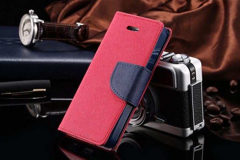 Podwójny kolor klapki skóra telefon torba case dla iphone 6 7 6 s plus 5 5S se gniazda kart + stojak kabura pokrowiec case dla iphone 7 6 6 s 50