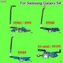 Câble flexible de chargeur de charge   Pour Samsung Galaxy S4 Mini I9195 i9505 i9500 I9502 i337 M919 E300L connecteur de Dock, prise USB