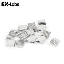 En-labs 50 pcs 실버 14x14x6mm 알루미늄 방열판 라디에이터 방열판 hdd ram cpu gpu 증폭기 전자 칩 방열