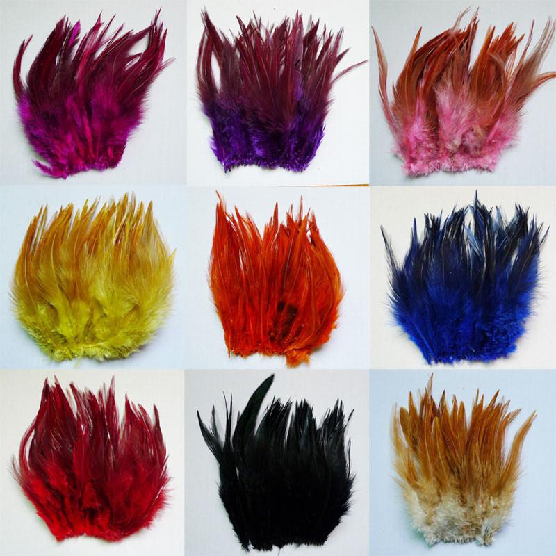 50 raiz vender galo pescoço pena multicolorido selecione diy cabelo acessório pena 10-15cm 4-6 polegada