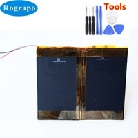 new 3 8v li polymer replacement battery for voyo q101s tablet pc accumulator 2 wire