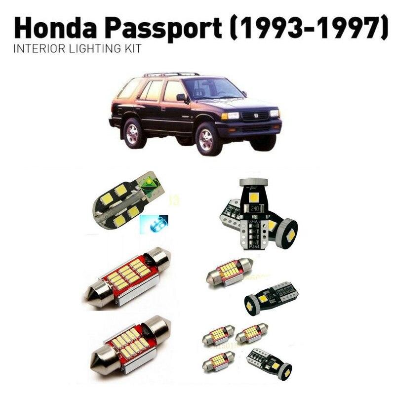 Led interior lights For Honda passport 1993-1997  10pc Led Lights For Cars lighting kit automotive bulbs Canbus