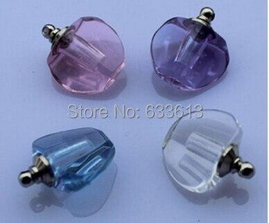 Freeshipping Promotion!! 100pcs/lot Colorful apple glass crystal bottle pendant Vial Pendant Pure Lovely Pendants