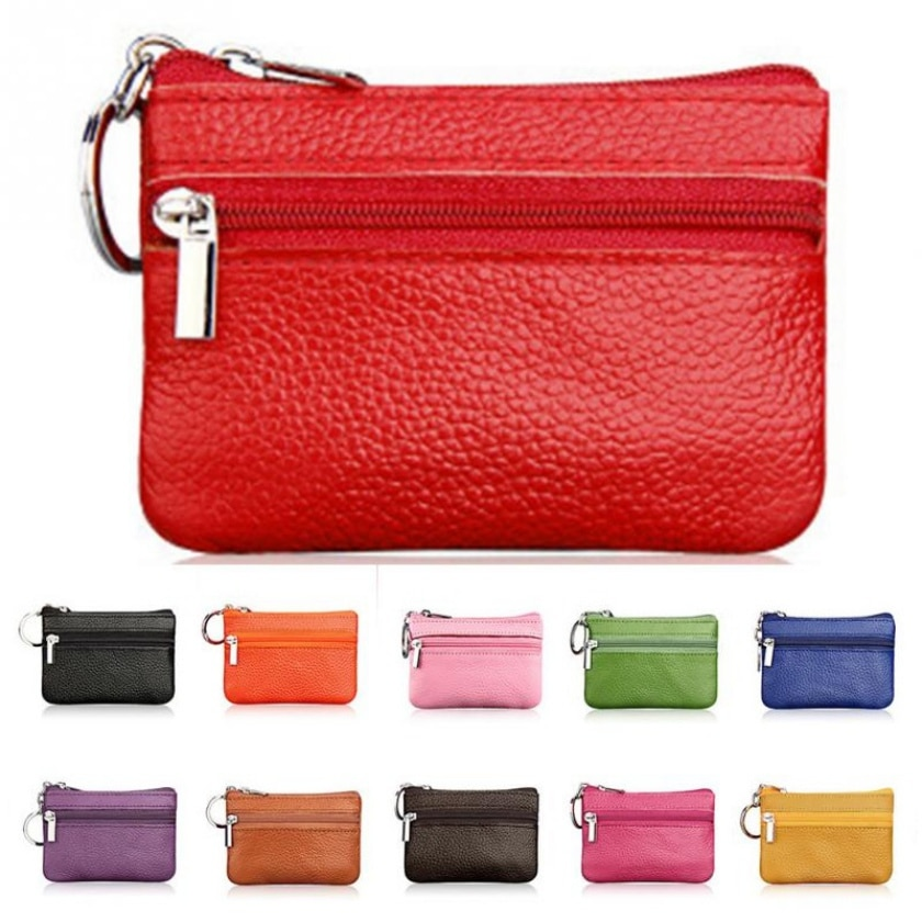 2019 Brand Casual Women Fashion Genuine Leather Car Key Holder Keyring Pouch Coin Purse Case Wallet