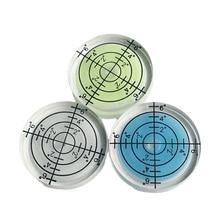 1pcs 32*7MM Bianco Verde Colore Blu Toro seye livella a Bolla Rotonda Bolla di Livello Accessori per la Misurazione strumento