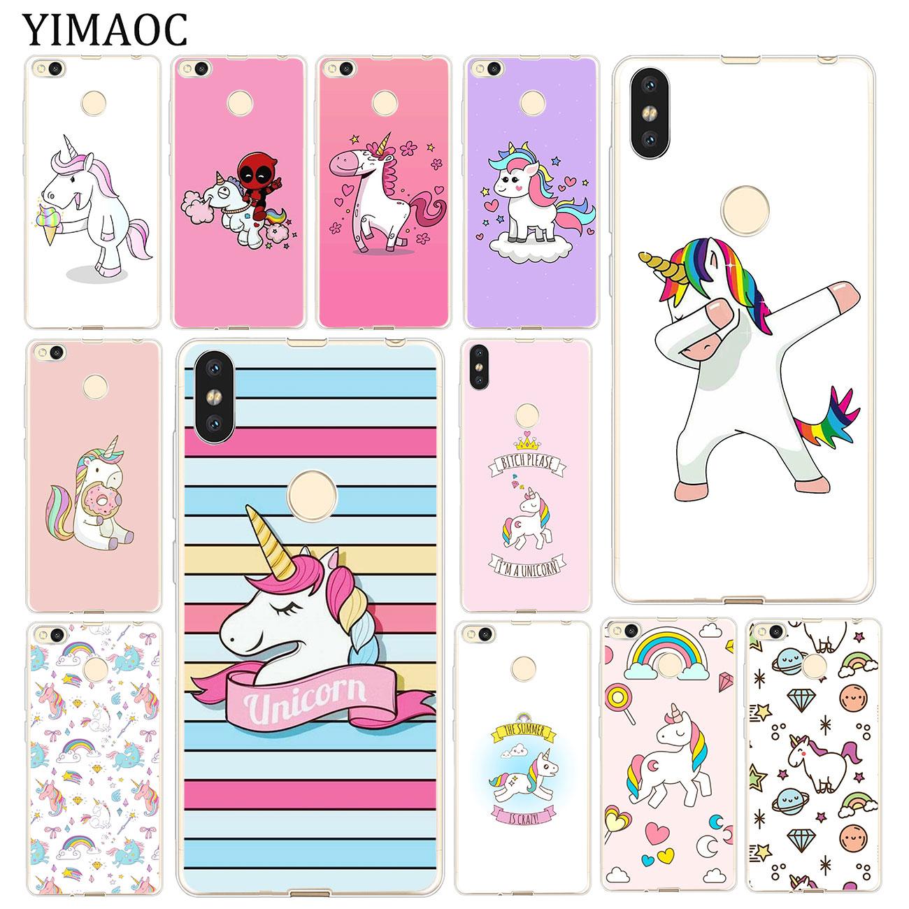 YIMAOC UNICORN cartoon funny Horse Soft Case for Xiaomi Mi 9 9T CC9 CC9E A3 Pro 8 SE A2 Lite A1 pocophone f1 MiX 2S MAX 3 MI9