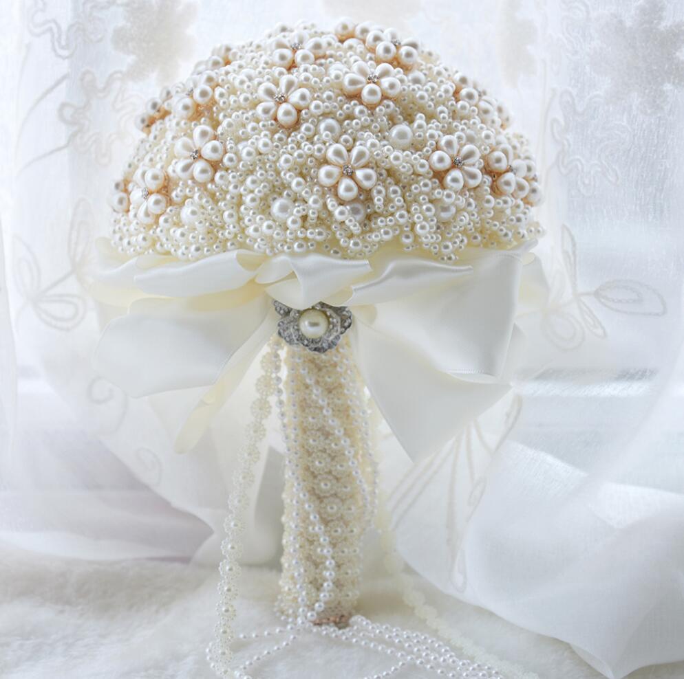 AYiCuthia Broche Buquê de Flores De Seda Do Casamento Rhinestone Jóias Blush Rosa Broche De Ouro Nupcial Do Vestido de Casamento Buquê de Casamento S79