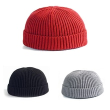 Winter Warm Knitted Skullcap Casual Short Thread Hip Hop Hat Adult Men Beanie Wool Knitted Beanie Skull Cap Elastic Hats Unisex