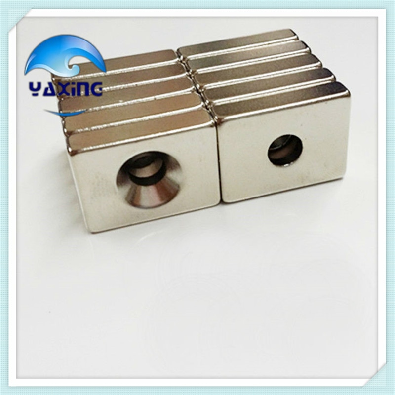 Неодимовые магниты для занавесок, 20 шт., 20x10x4мм, с отверстием 4 мм, суперпрочные, кольца редкоземельного типа, магнит, N35