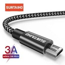 Câble Micro USB 1m 2m 3m pour Xiaomi Redmi Note 5 Pro 4 câble chargeur Micro USB pour Samsung S7 edg téléphone Android Micro cordon