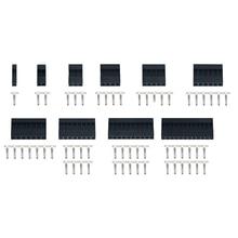 Connecteur broche simple rangée 1P 2P 3P 4P 5P 6P   Connecteur broche en plastique, coque en plastique, cavalier câble, tête de câble, AWG28 50 pièces