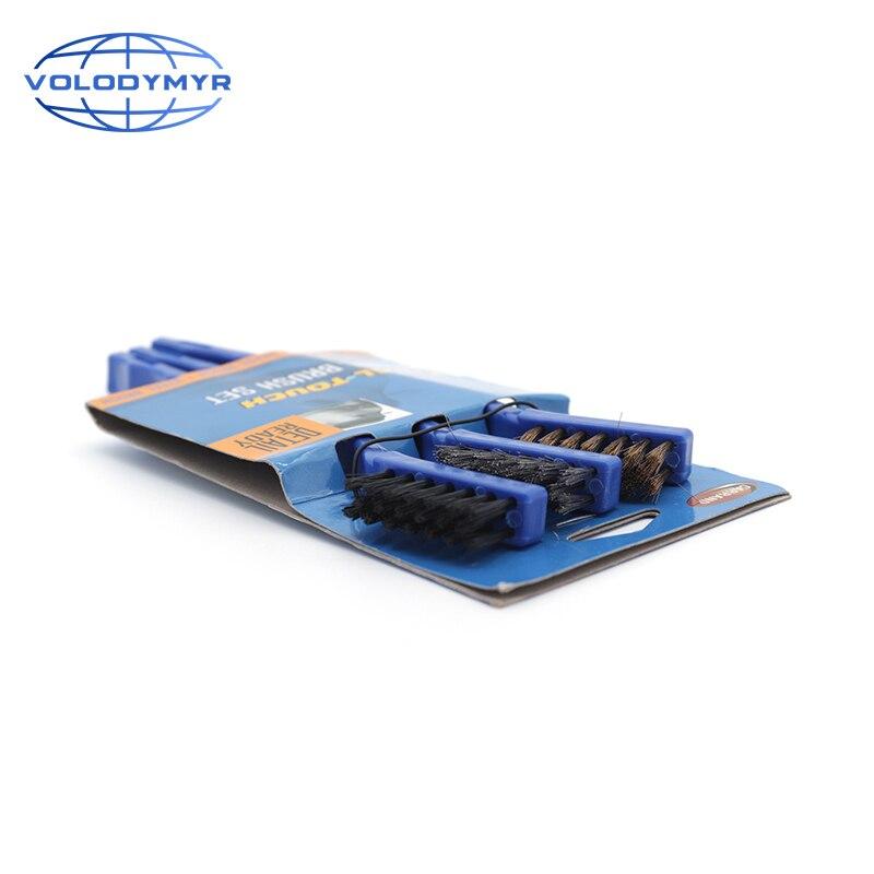 El Kit de cepillos de motor contiene 3 uds. Cepillo para detalles para piezas de plástico, limpiador de manchas para limpieza automática de coches, limpiador de ruedas con detalle