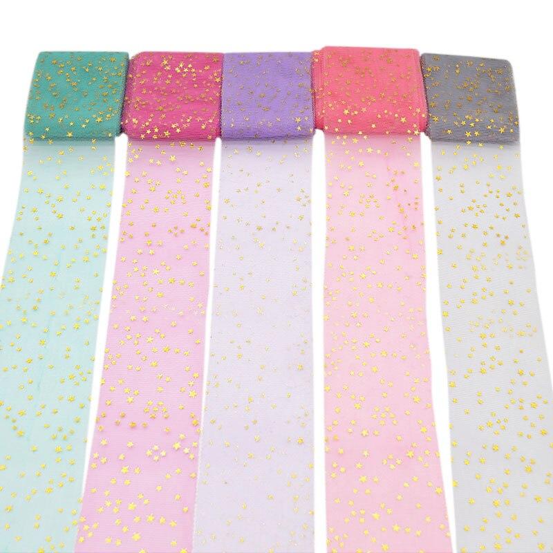 5 метров мягкая сетка звезды с блестками Тюль рулон для DIY Барби ткань ручной работы дети пачка аксессуары для волос свадьба день рождения пользу Deco