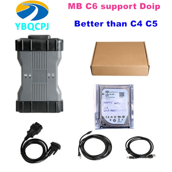 Nuevo OEM MB Star C6 VCI DoIP diagnóstico multiplexor V2019.12 Software HDD reemplazar C3 C4 C5 estrella