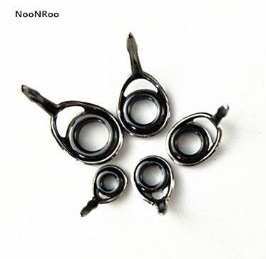 Черный цвет KT & KL #4/#5/#5,5/#6/#8/#10/#12 черная цветная рамка с альконитовым кольцом 10 шт. направляющие для рыбалки