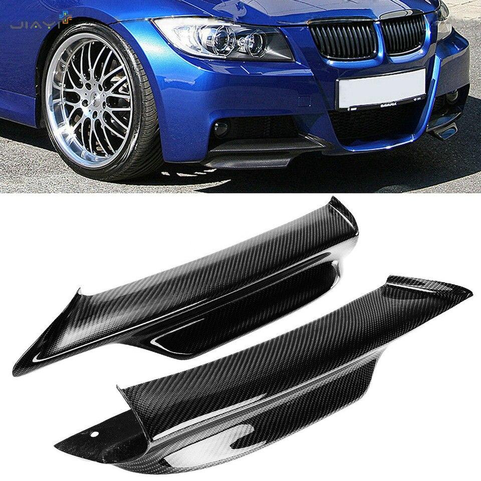 Fibra de carbono Real separador de parachoques delantero labio solapas Spoiler Cupwings para BMW Serie 3 E90 sedán LCI M-TECH M-Sport 2006-2008 de 2007