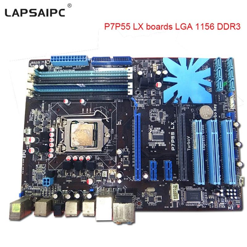 lapsaipc P7P55 LX motherboard P7H55 LGA1156 P55 mainboard for i3 i5 i7 cpu 16GB USB2.0 Desktop mother board LGA 1156 DDR3 boards