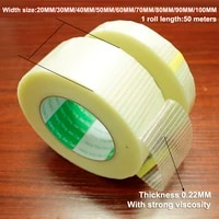 50mroll glass fiber tape transparent mesh fiber tape aircraft model fixed special strong single sided strip tape