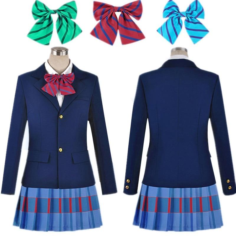 Anime Lovelive Liebe Live Cosplay Kostüm Kousaka Honoka Minami Kotori Ayase Eli Tojo Nozomi Nishikino Maki Schuluniform