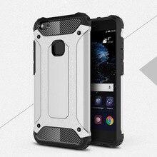 For Huawei P10 Lite Carbon Fiber Phone Case Silicone Cover For Huawei Nova Lite Case Shockproof Hard Tough Rubber Hybrid Armor