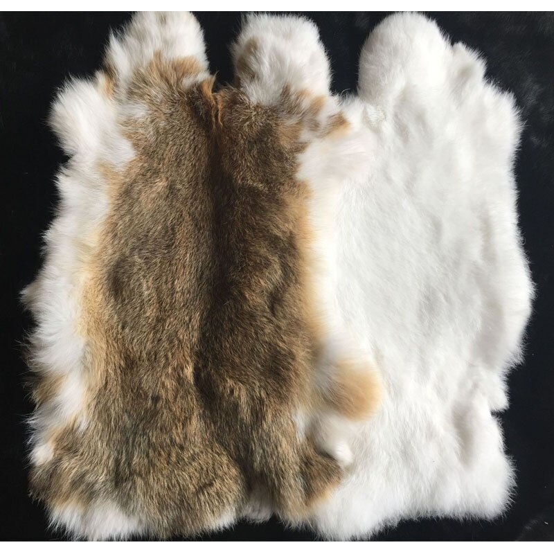 Nature Real Genuine Rabbit Fur Sale By Whole Piece Fluffy Rabbit Leather Fur Home Decoration Clothin