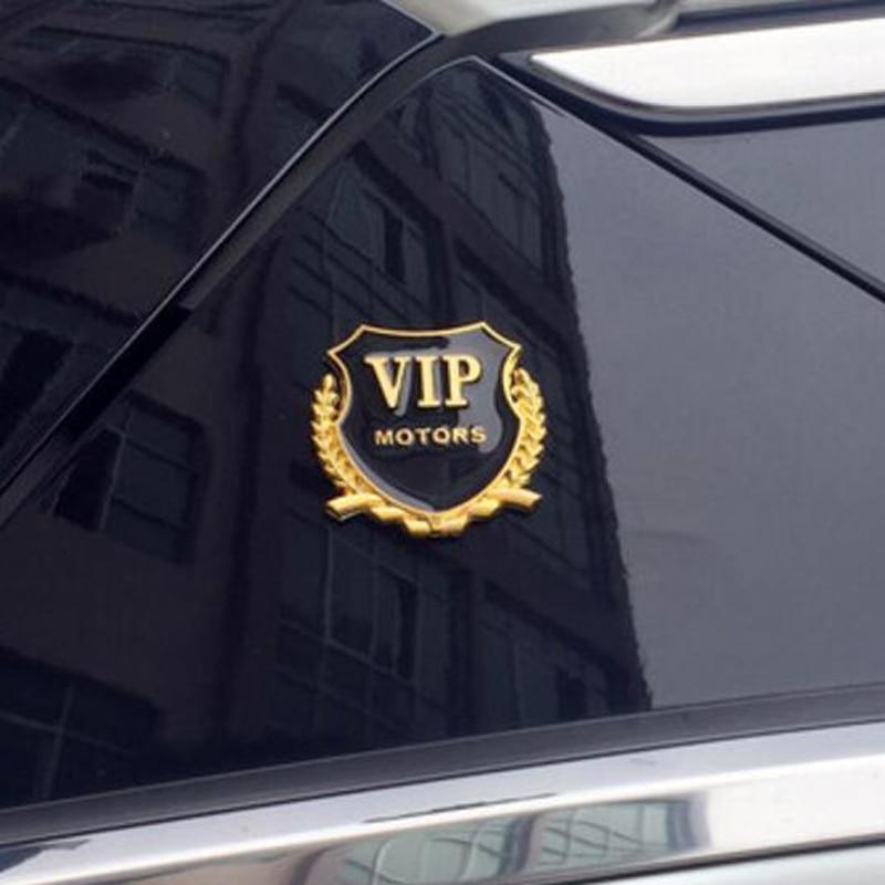 2 pçs/lote 3D Logo VIP styling de carro para Volkswagen POLO Tiguan Golf Passat EOS Scirocco Bora Lavida Touran Besouro