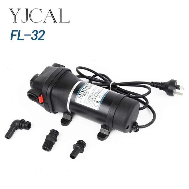 FL-32, bomba de agua eléctrica pequeña de 110V y 220V para el hogar, potenciador del calentador de agua, bomba autocebante, Control de temperatura y presión