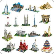 Chaude YZ blocs Mini Architecture modèle Taj Mahal bâtiment brique château éducatif enfants jouets pour enfants tour Eiffel Collection