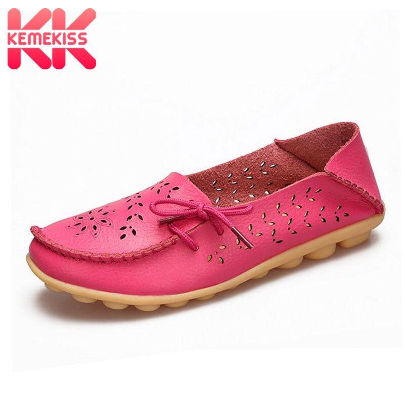 KemeKiss, 20 colores, zapatos planos de piel auténtica para mujer, zapatos de ocio a la moda Daliy, calzado de mujer para oficina y fiesta, talla 34-44