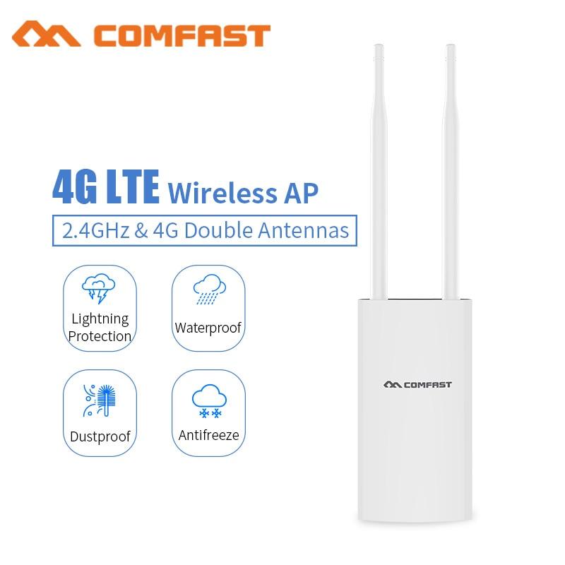 Comfast CF-E5 высокоскоростной уличный 4G LTE беспроводной AP Wifi штекер маршрутизатора и играй 4G сим-карта портативный беспроводной маршрутизатор ...