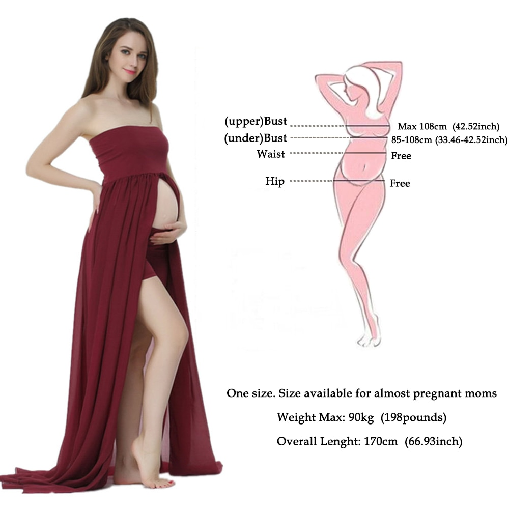 Clearance! Maternity photography Props Maxi Pregnancy Clothes Chiffon Maternity Dress Shooting Photo Pregnant Pregnancy Dresses enlarge