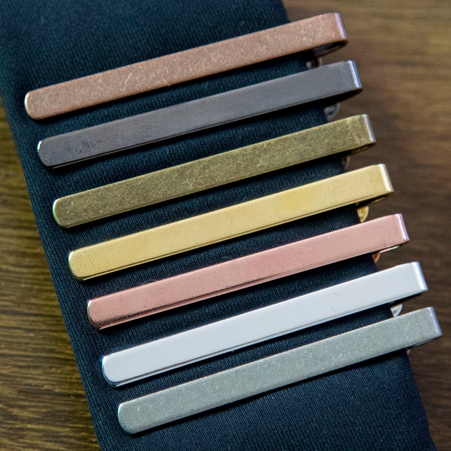 New Simple Fashion Style Tie Clip for Men Metal Gold Tone Simple Bar Clasp Practical Necktie Clasp T