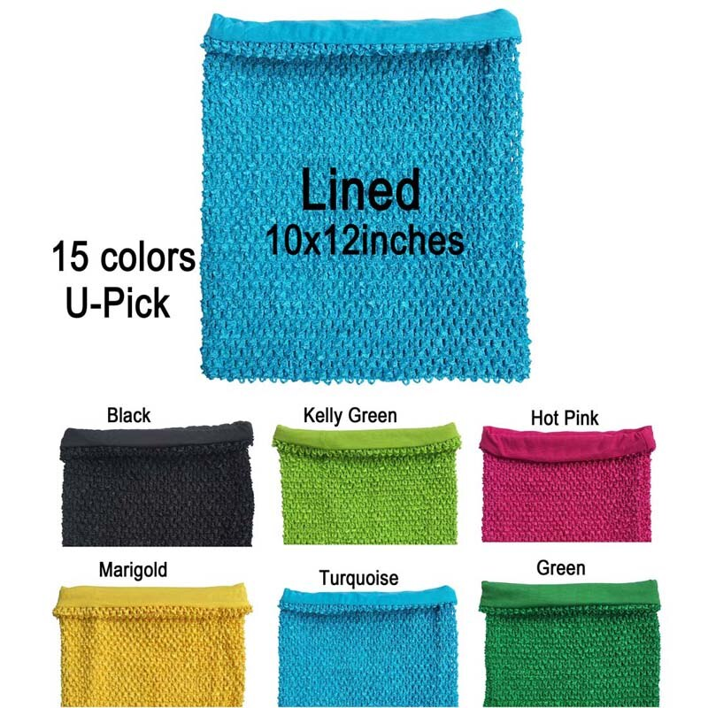 10x12 pulgadas Lined Crochet Tutu Tube Top traje tutú Pettiskirt Tank Tops bandas elásticas tutú