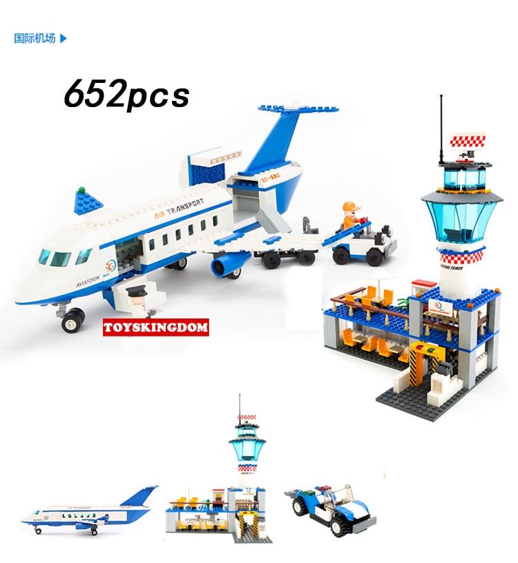 Bloques de construcción para Aeropuerto Internacional de la ciudad, modelo Boeing jumbo 747, figuras de pasajeros, bloques de avión, juguetes educativos para chico