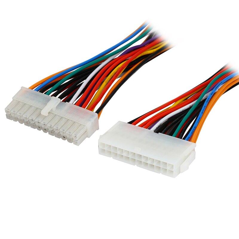 Placa base Molex de 24 pines para ordenador de 8 pulgadas a ATX EPS PSU Cable de extensión de fuente de alimentación, Cable de alimentación interno de 24 Pines, macho a hembra