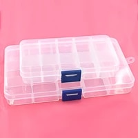 5pcslot buttons eyelets storage adjustable plastic 1015 compartment storage box jewelry earring bin case container boxes