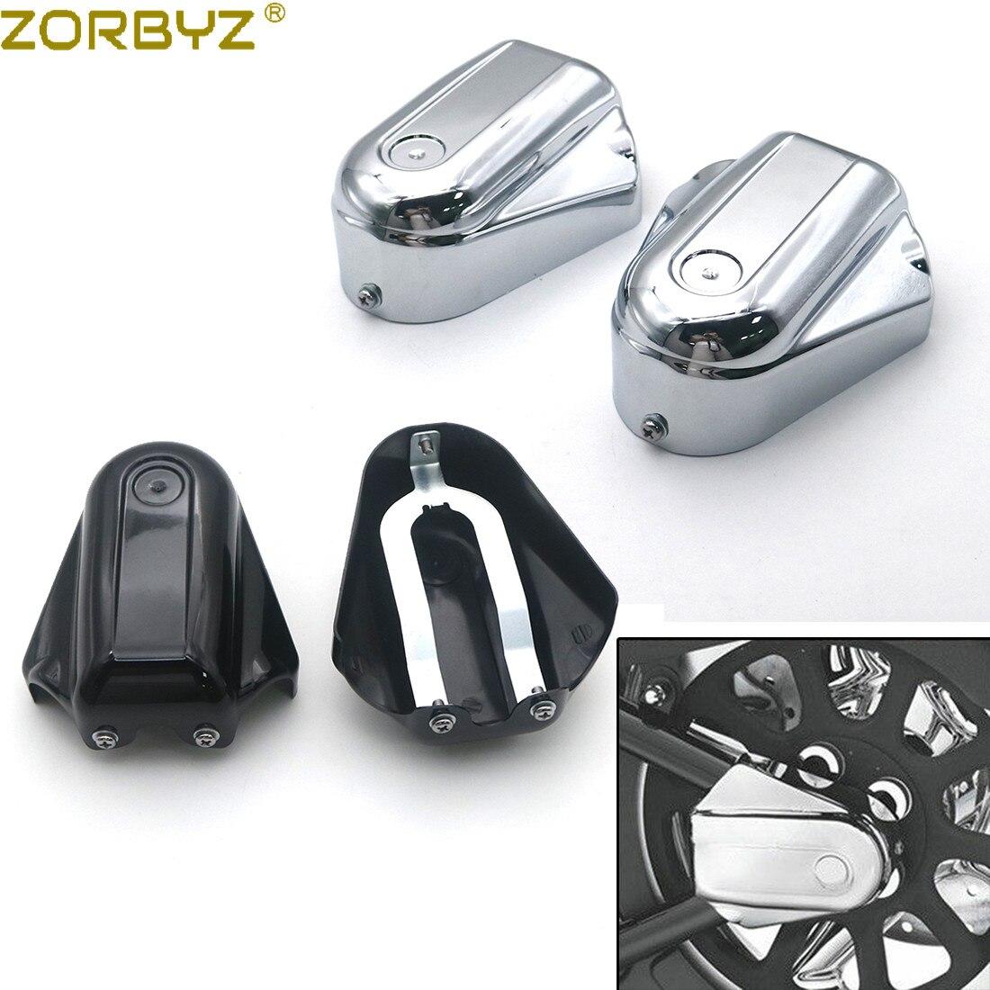 Zorbyz motocicleta preto/chrome bar escudo do eixo traseiro cobre swingarm tampa para harley softailslim flstn fxstb
