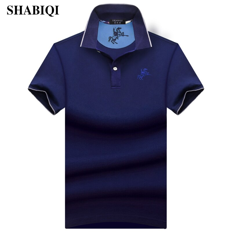 SHABIQI New 2019 Fashion Brand Men Polo shirt Solid Color Slim Fit Shirt Men Cotton polo Shirts Casual Shirt big sizeS-10XL