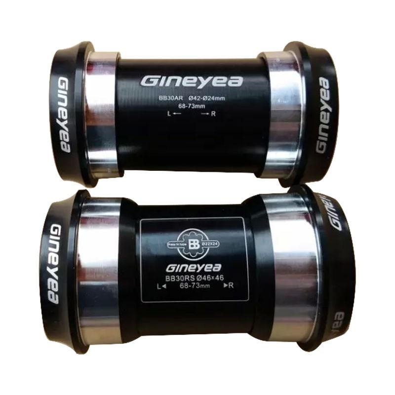GINEYEA PF30 BB30 soporte inferior de ajuste a presión/eje 7075AL CNC/eje para bicicleta GXP 24mm/22mm
