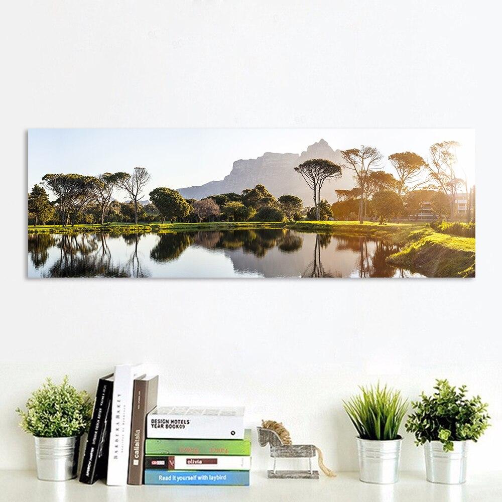 HDARTISAN cuadro de arte de pared lienzo impresiones pintura de paisaje reflejo para la decoración del hogar de la sala de estar sin marco