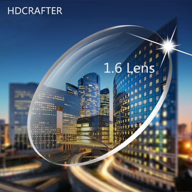 HDCRAFTER 2 قطعة P1.61 و 1.67 وصفة طبية العدسات شبه كروي قصر النظر مد البصر عدسة SPH -1000 إلى + 600 النظارات البصرية عدسة