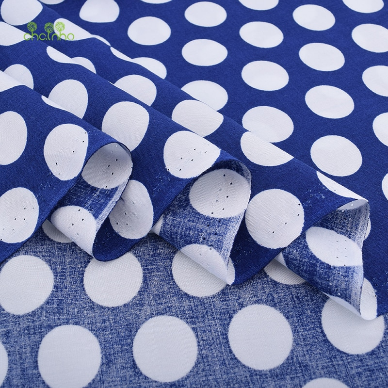 Chainho, серия PokaDot/Летняя одежда из ткани/имитация шелка с принтом/юбка/платье/материал рубашки/половина метра 50x140cm