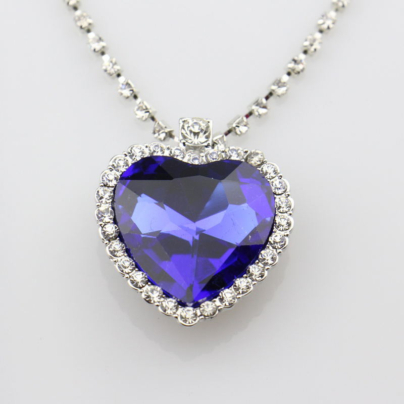 New Austrian Crystal Heart Of Ocean Pendant Necklace The Gift for Girl Friend Love Forever Fashion Jewelry Chain Necklace недорого