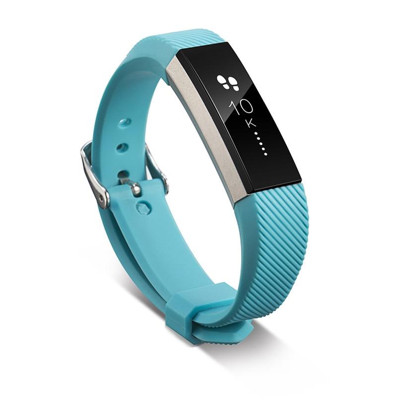 Reloj de pulsera inteligente, 11 colores, correa de silicona de Alta calidad, correa de silicona de repuesto para Fitbit Alta HR
