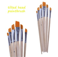 4 set Boutique Fine nylon hair round head flat front watercolor painting brushes acrylic brush pen hook line pen oil brush art