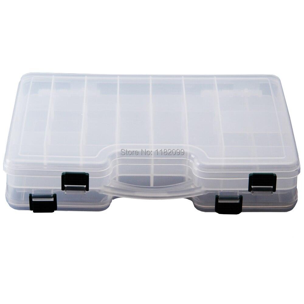29cm*19cm*6cm Wholesale Waterproof Box Fishing Tackle Box Fly Fishing Box Fishing Bait Case Spinner Bait Minnow Popper Pesca